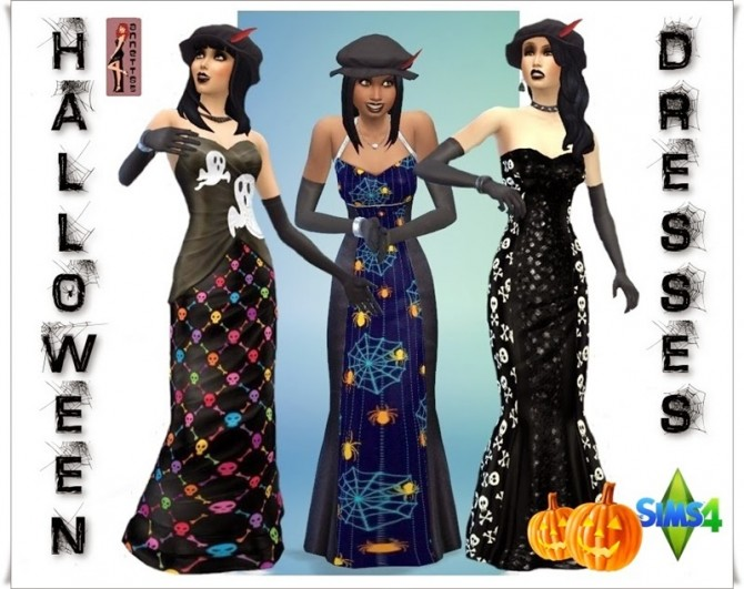 Halloween Dresses at Annett's Sims 4 Welt » Sims 4 Updates
