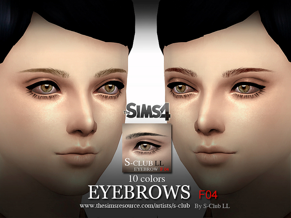 LL Eyebrows F04 by S Club at TSR image 9381 Sims 4 Updates
