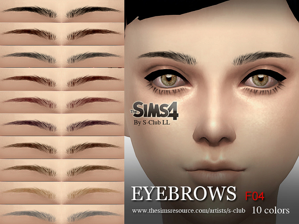 LL Eyebrows F04 by S Club at TSR image 9561 Sims 4 Updates