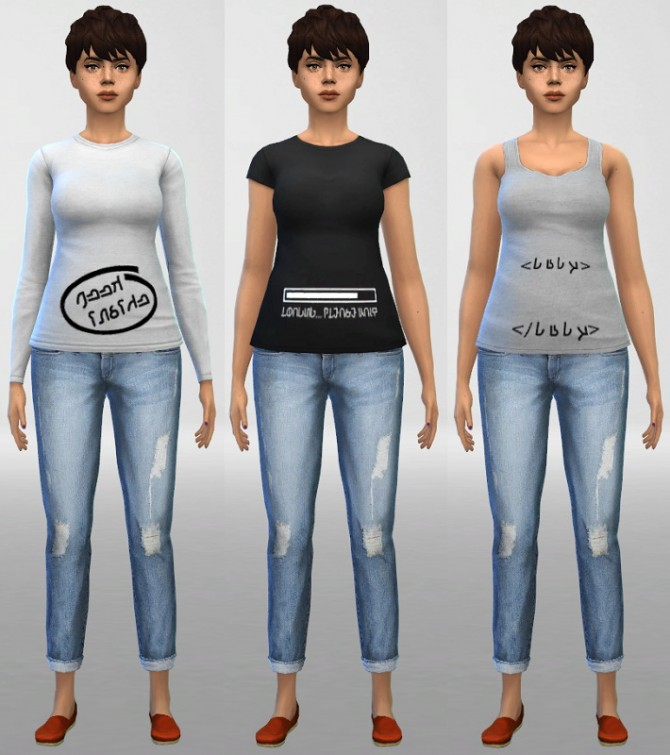 Sims 4 6 Maternity Top Designs at ThatMalorieGirl