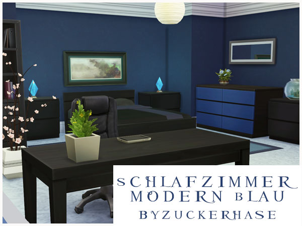 Modern Bedroom In Blue By Zuckerhase At Akisima Sims 4 Iphone Wallpapers Free Beautiful  HD Wallpapers, Images Over 1000+ [getprihce.gq]