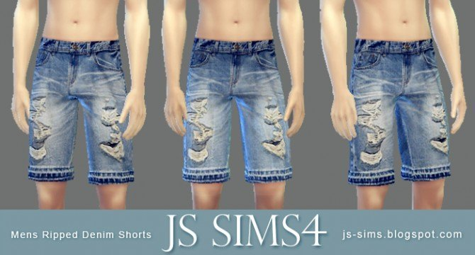 Long Sleeve Tee + Ripped Denim Shorts + Varsity Socks at JS Sims 4 image 9721 Sims 4 Updates
