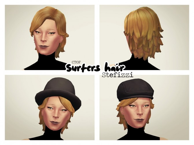 Surfers hair at Stefizzi image 974 Sims 4 Updates