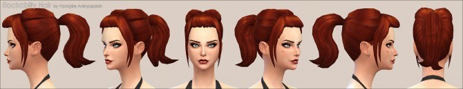 Rockabilly Hair by Vampire aninyosaloh at Mod The Sims image 9791 Sims 4 Updates