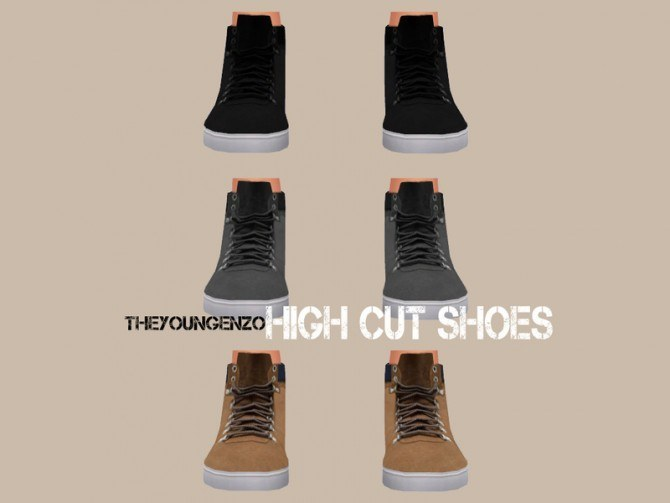 High Cut Shoes at The Young Enzo u00bb Sims 4 Updates