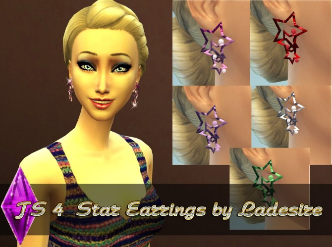 Sims 4 Star Earrings at Ladesire