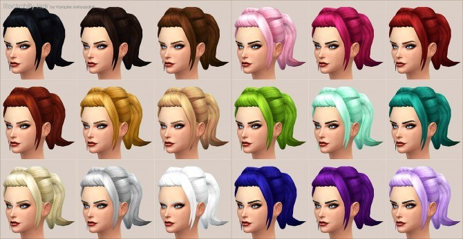 Rockabilly Hair by Vampire aninyosaloh at Mod The Sims image 9991 Sims 4 Updates