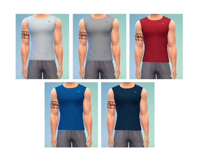 Guns Out Nike Tank at LumiaLover Sims image 10 1 Sims 4 Updates