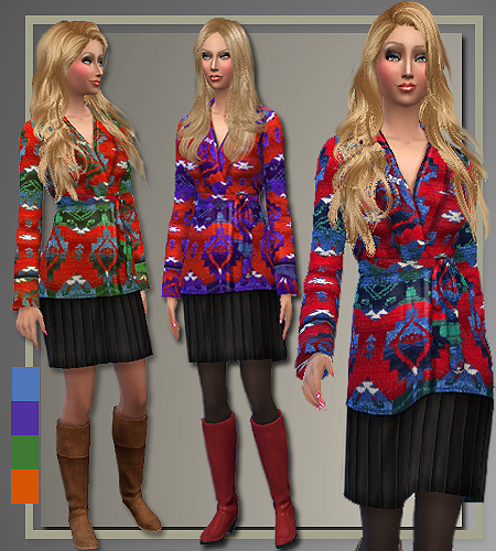 Fall 2014 sweaters, jeans and coat at All About Style image 1040 Sims 4 Updates