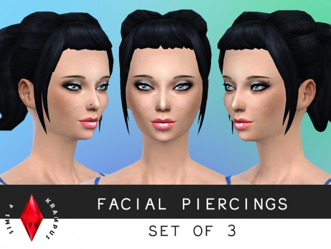 Sims 4 Facial piercing set of 3 at Sims 4 Krampus