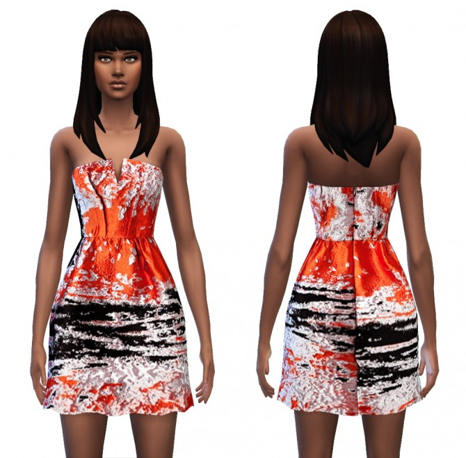 Sims 4 Bustier Dress 4 styles at Sim4ny