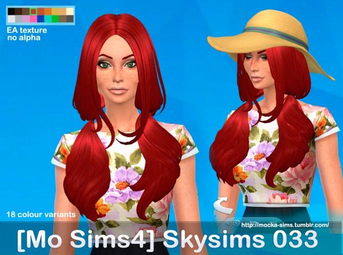 Sims 4 Skysims 033 hair conversion at Mocka Simblr