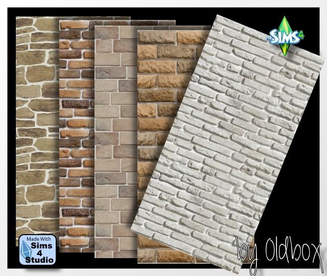 Bricks Walls By Oldbox At All 4 Sims 187 Sims 4 Updates