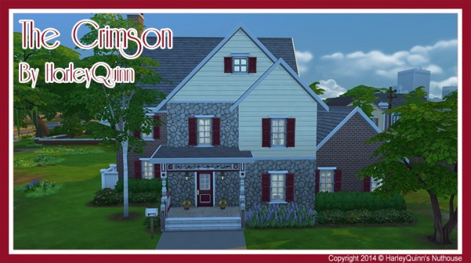 The Crimson house at Harley Quinn's Nuthouse image 11019 Sims 4 Updates