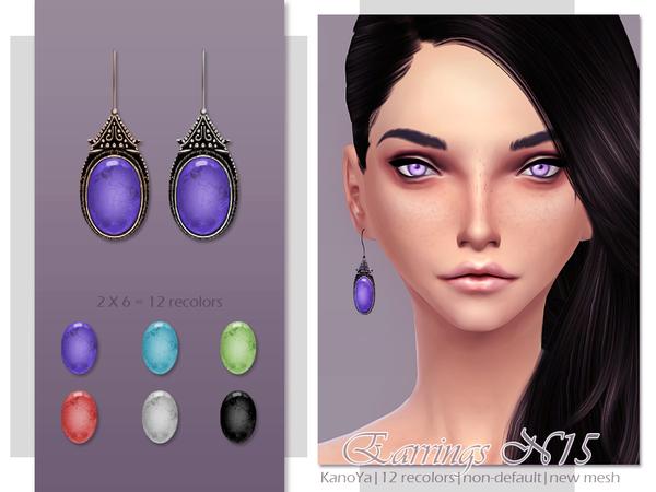 Earrings N15 by KanoYa at TSR image 111211 Sims 4 Updates