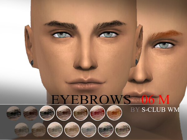 Sims 4 Eyebrows 06 by WM S Club at TSR