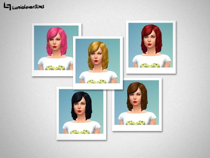 Sims 4 Taylor Bob Hair at LumiaLover Sims