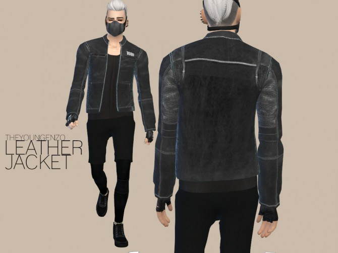 Leather Jacket At The Young Enzo 187 Sims 4 Updates