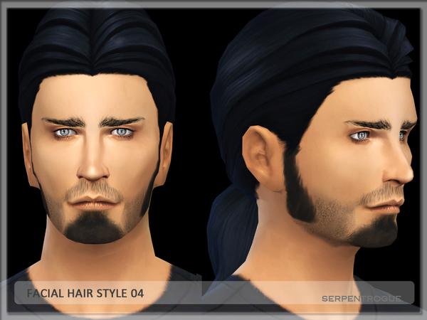 Sims 4 Facial hairstyle 04 by Serpentogue at TSR