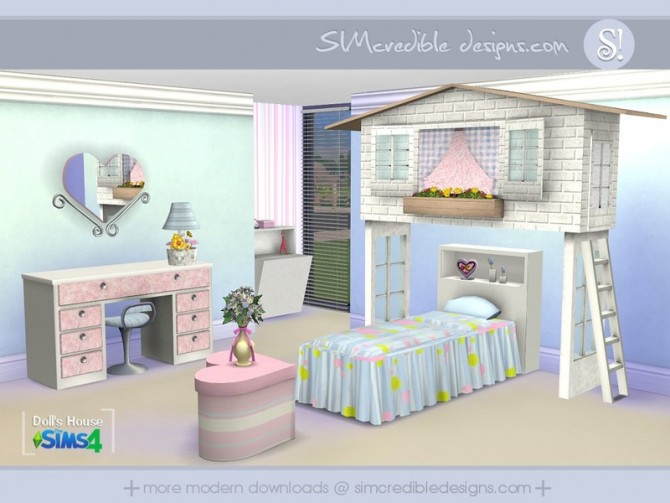 Dolls house by simcredible at tsr sims 4 updates - Sims 3 babyzimmer ...