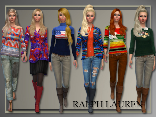 Fall 2014 sweaters, jeans and coat at All About Style image 1180 Sims 4 Updates