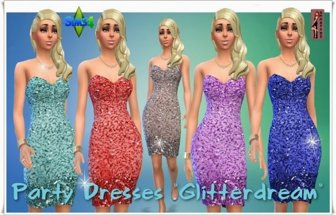 Glitterdream Party Dresses at Annett's Sims 4 Welt image 1184 Sims 4 Updates