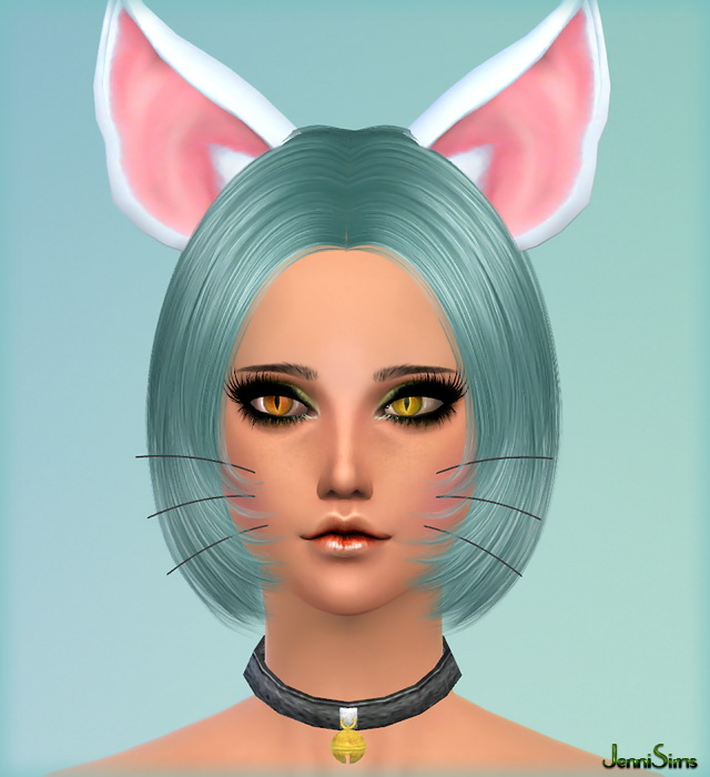 Kitty Whiskers, Necklace, Choker, Ears at Jenni Sims image 1255 Sims 4 Updates