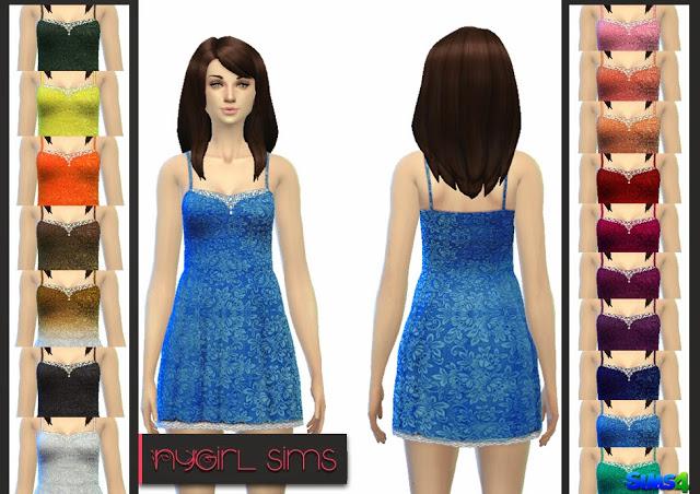 Sims 4 Layered Lace Sundress at NyGirl Sims
