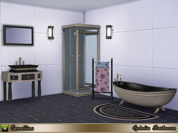 Ophelia Bathroom by Canelline at TSR image 1265 Sims 4 Updates