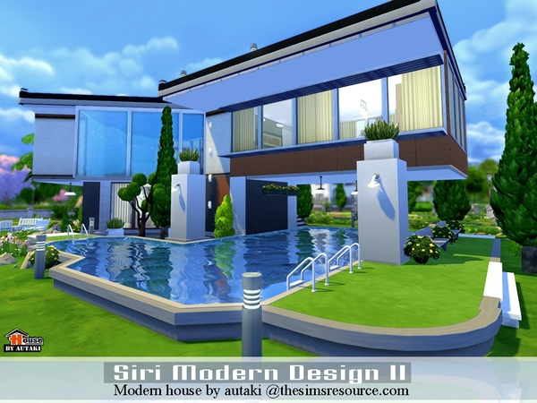 Sri modern design ii house by autaki at tsr sims 4 updates for Pool design sims 4