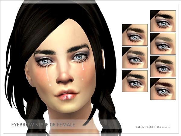 Sims 4 Eyebrow style 06 F by Serpentogue at TSR