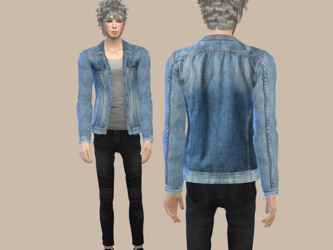 Sims 4 custom content jean jacket