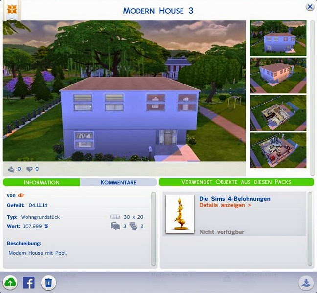 Sims 4 Modern House 3 at 19 Sims 4 Blog