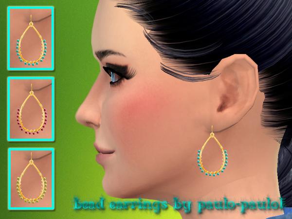 Sims 4 Bead earrings at Paulo Paulol