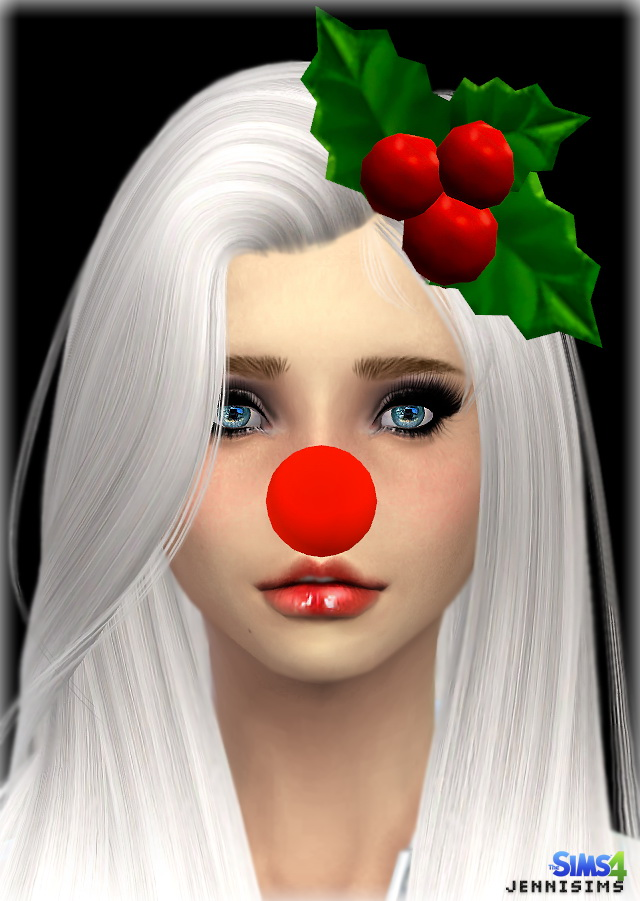 Sims 4 Santa Nose and Mistletoe headwear at Jenni Sims