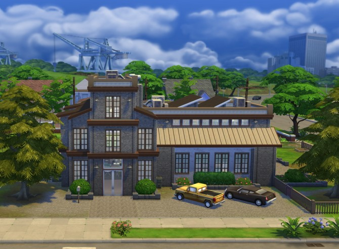 Sims 4 Industrial Living factory at Simply Ruthless