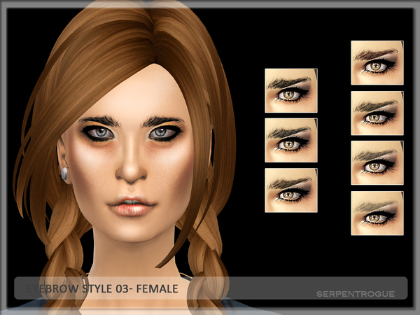 Sims 4 Eyebrow Style 03 by Serpentrogue at TSR