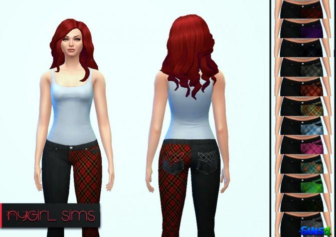 Tartan Skinny Jeans at NyGirl Sims image 1522 Sims 4 Updates