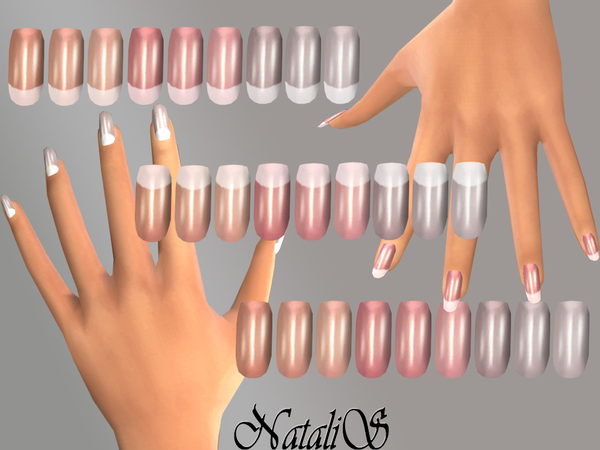 French Long Nails By Natalis At Tsr