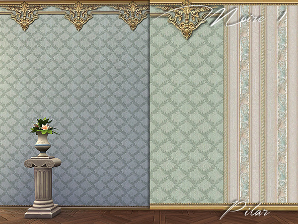 Sims 4 Moire wall 1 by Pilar at TSR