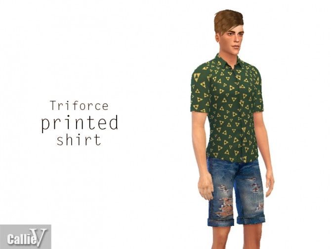 Sims 4 3 printed shirts for males at CallieV Plays