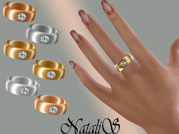 Sims 4 Ring with crystal by NataliS at TSR