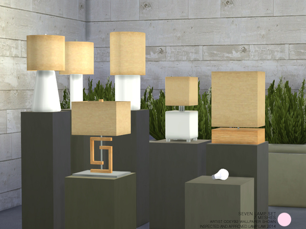 Seven Lamp Set by DOT at TSR image 1719 Sims 4 Updates
