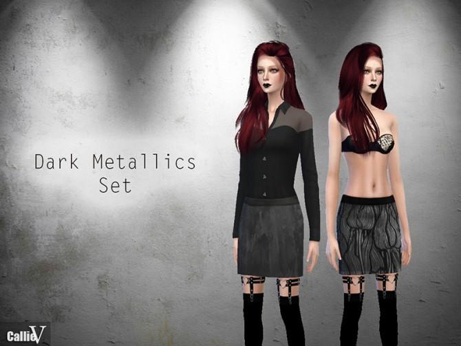 Sims 4 Dark Metallics Set at CallieV Plays