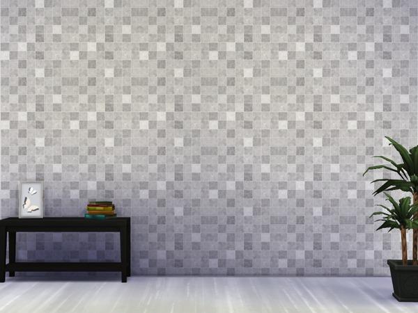 Sims 4 Various walls in gray by Paogae at TSR