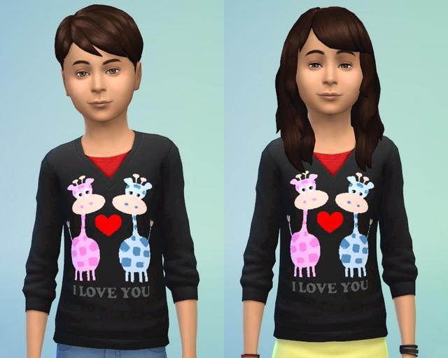 Sims 4 Giraffe Shirt by Blackbeauty583 at Beauty Sims