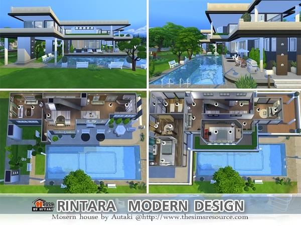 Rintara Modern Design by autaki at TSR image 1822 Sims 4 Updates