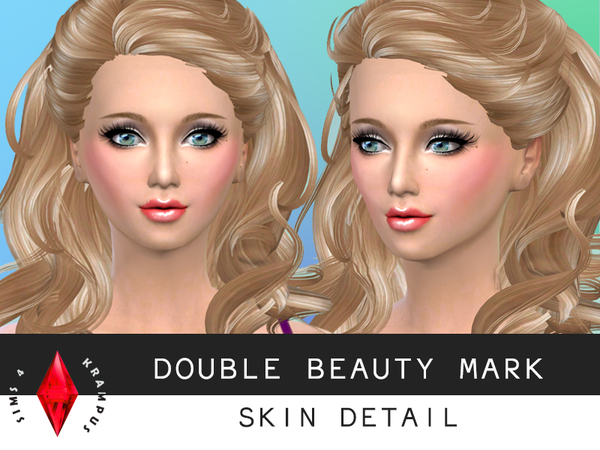 Sims 4 Double Beauty Mark by SIms4 Krampus at TSR