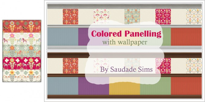 Colored panelling at Saudade Sims image 1871 Sims 4 Updates