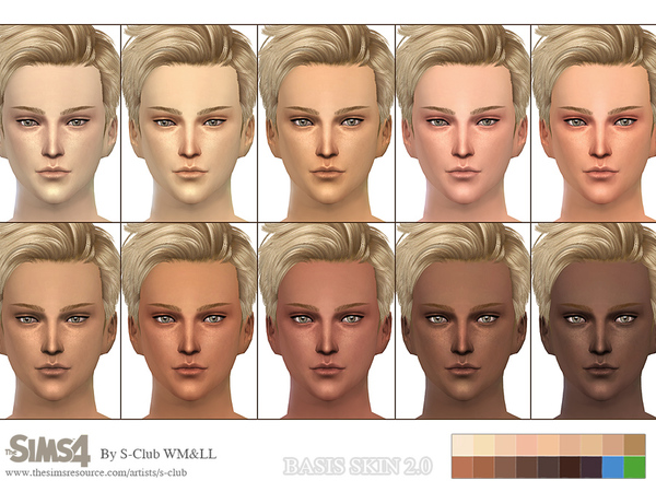 Sims 4 BASSIS skintones 2.0 by WMLL S Club at TSR